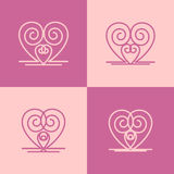 Heart icons. For ornament. Vector file Royalty Free Stock Image