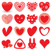 Heart Icons Set Royalty Free Stock Photo