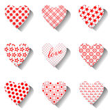 Heart icons set. Royalty Free Stock Photo