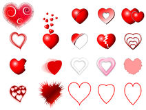 Heart icons set Royalty Free Stock Photos