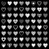 Heart icons set. 64 design elements. Vector art Stock Photos