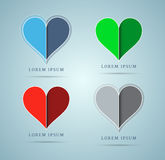 Heart icons. Set of four. Vector contains transparent objects Stock Photography