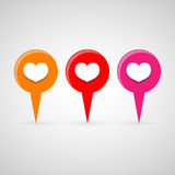 Heart icons set great for any use. Vector EPS10. Stock Photography