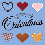 Heart Icons Set, ideal for valentine day and wedding. Royalty Free Stock Photo