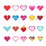 Heart icons set. Royalty Free Stock Image