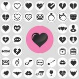 Heart icons set. Stock Photo