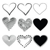 Heart icons. Set style vector Stock Image