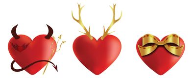 Heart icons set 3 Royalty Free Stock Photography
