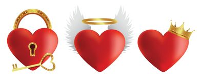 Heart icons set 2 Royalty Free Stock Images