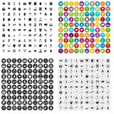 100 heart icons set variant. 100 heart icons set in 4 variant for any web design isolated on white stock illustration