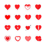 Heart icons set. Vector illustration Royalty Free Stock Photography
