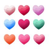 Heart Icons Set. Vector illustration. vector illustration