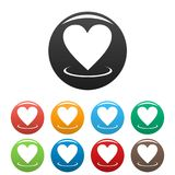 Heart icons set vector simple. Heart icons set. Vector simple illustration of heart icons isolated on white background Royalty Free Stock Photos