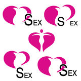 Heart icons - sex symbols Stock Image