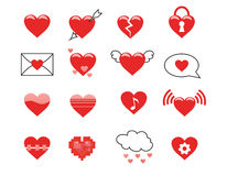 Heart Icons Royalty Free Stock Photos