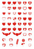 Heart Icons & Symbols. Beautiful Heart Icons & Symbols of Love Royalty Free Stock Photography
