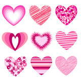 heart icons, valentin's day Royalty Free Stock Photo