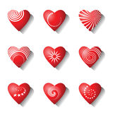 Heart icons. Valentine design elements. Stock Photography