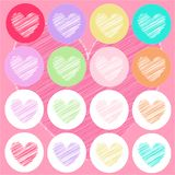 Heart icons, valentine's day, card, wallpaper Stock Image