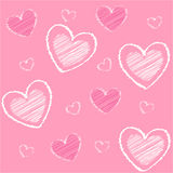 Heart icons, valentine's day, card, wallpaper Stock Photography