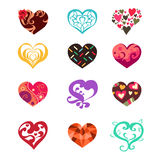 Heart Icons. A vector illustration of heart icon sets Royalty Free Stock Image