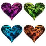 Heart icons. Vector illustration royalty free illustration