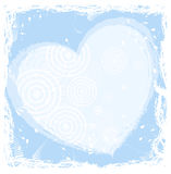 Heart iin frame. Hearts contain circles in a frame. Try different colour vector illustration