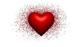 Heart. Illustation of a broken heart in 3D royalty free illustration