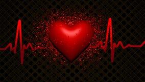 Heart. Illustation of a broken heart in 3D stock illustration