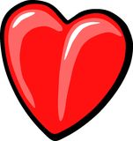 Heart. Illustrated entailing big heart pure love for life royalty free illustration