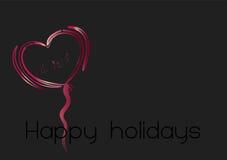 Heart illustration 1. Happy holidays heart illustration on colourful background Stock Photography
