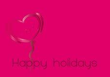 Heart illustration 2. Happy holidays heart illustration on colourful background Stock Images