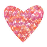 Heart illustration. Colorful heart on white background Royalty Free Stock Photo