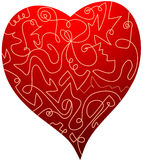 Heart illustration Royalty Free Stock Photo