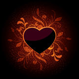 Heart illustration in brown Royalty Free Stock Images