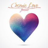 Heart illustration in cosmos style Stock Images