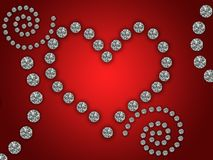 Heart illustration with diamonds Royalty Free Stock Photo