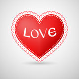 Heart illustration with dotted border vector illustration