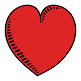 Heart illustration. Heart drawing ; Freehand heart illustration Royalty Free Stock Photo
