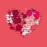 Heart illustration. Love. Vector background. Stock Photography