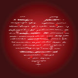 Heart illustration. Love. Vector background. Royalty Free Stock Images