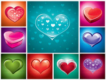Heart illustration set Royalty Free Stock Photography