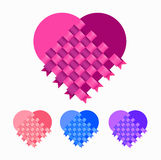 Heart 1. Illustration of Heart for valentines day and wedding Royalty Free Stock Photo