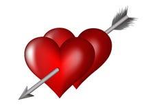 Heart impaled by arrow Royalty Free Stock Photo