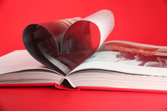 Heart In Book Stock Image