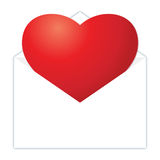 Heart In Envelope Royalty Free Stock Photography