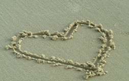 Free Heart In The Sand Royalty Free Stock Image - 2414766