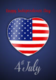 Heart for Independence Day Stock Image