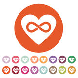 The heart and infinity icon. Heart And Infinity Royalty Free Stock Image