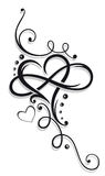 Heart and infinity Stock Photo